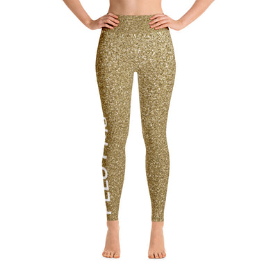 Gold Glitter Pelo PMG Yoga Leggings