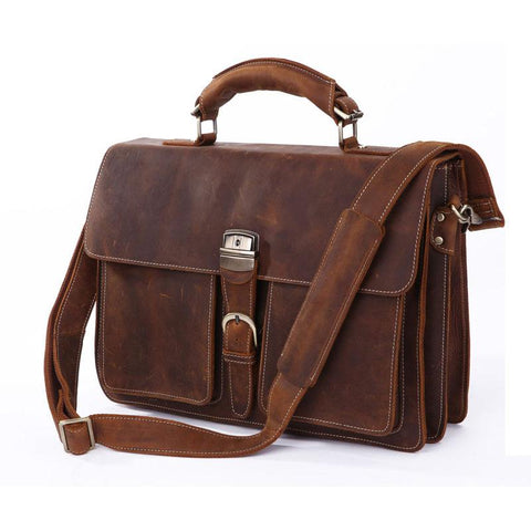 Leather Briefcase - Downtown II
