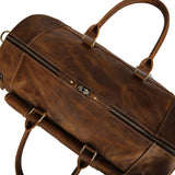 Banff II - Vintage Leather Duffle Bag with Shoe Compartment