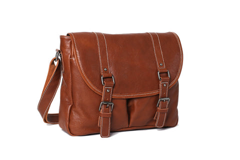 Leather Messenger Bag - City Boy