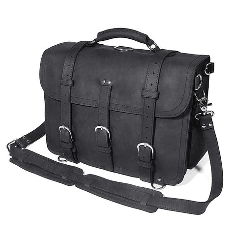 Black Leather Briefcase - LKII