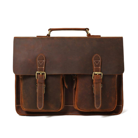 Leather Briefcase - Downtown