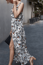 VOKJJ Summer Sexy Lady Slip Dress in Floral Print