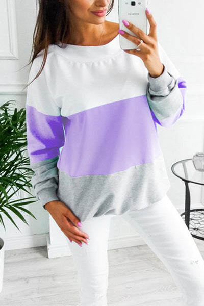 VOKJJ  Lacing Round Neck Long Sleeve Loose Sweater - Hellosuitlady
