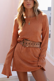 VOKJJ Knitted Sweater Dress With Long Sleeves - Hellosuitlady