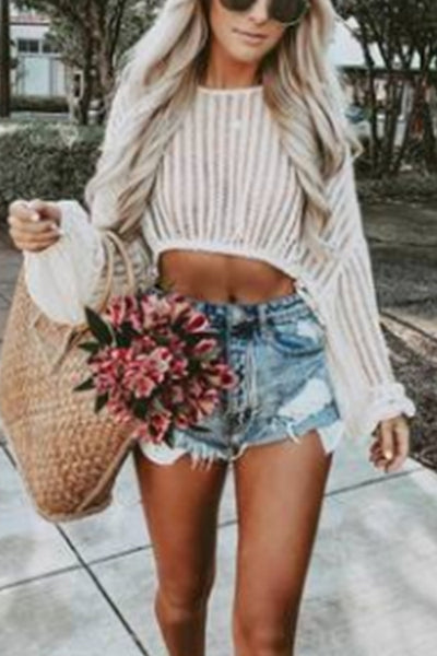 VOKJJ The Summer  Bikini Beach Sweater Bikini thin smock