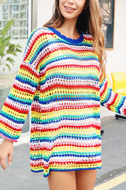 VOKJJ Round Neck Loose Sweater - Hellosuitlady