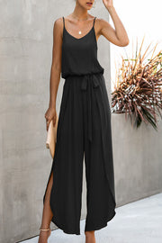 VOKJJ Summer Fashion Slip Jumpsuits with Loose Pants by Side Vents
