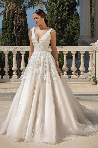 VOKJJ  Lace Covered Ball Gown