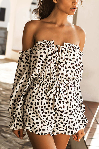 Sexy Strapless Slim Polka-Dot Jumpsuit
