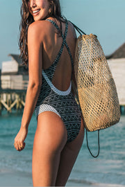 VOKJJ  Striped One-Piece Bikini - Hellosuitlady