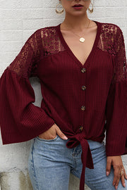 Women's Long Sleeve Sweater Solid Color - Hellosuitlady