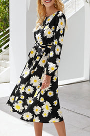 VOKJJ Fashion Hot-selling Daisy Print Dress