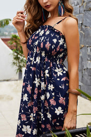 VOKJJ Strap Tube Top Floral Dress - Hellosuitlady