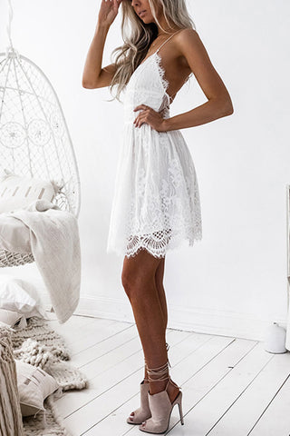 VOKJJ Backless Lace Sling Dress - Hellosuitlady