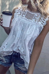 VOKJJ Sleeveless Lace Top