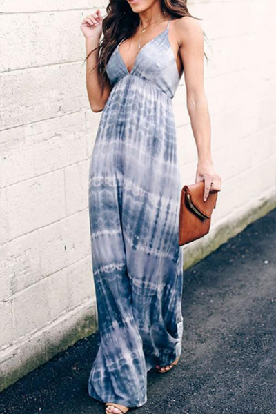 VOKJJ Tie Dye Sleeveless Maxi Dress - Hellosuitlady