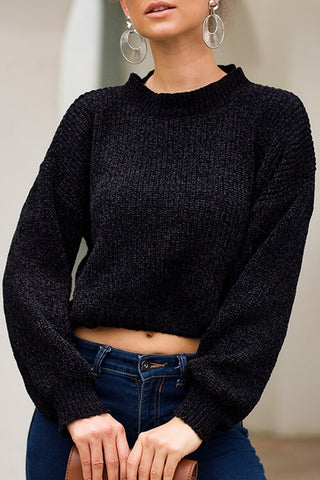 VOKJJ Long Sleeves Loose Laid-back Sweaters