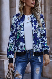 VOKJJ Stylish Casual Printing Baseball Jacket