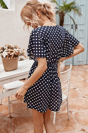 VOKJJ Summer Polka Dot Jumpsuit Temperament Loose Slacks