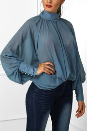 VOKJJ Bat Sleeve Loose Chiffon Top - Hellosuitlady
