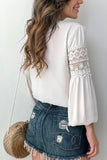Lace-paneled Long-sleeved Shirt