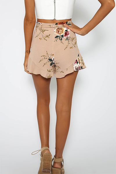 VOKJJ Print High Waist Short Loose Pants