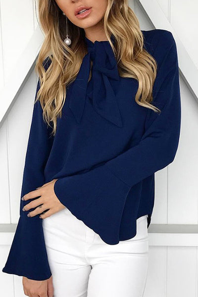 VOKJJ Trend Tie Knotted Bottoming Shirt - Hellosuitlady