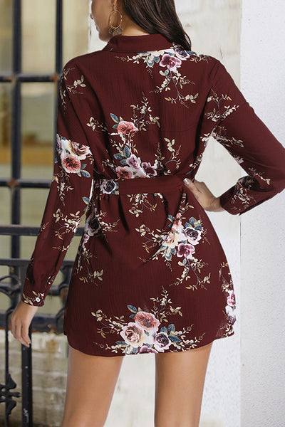 VOKJJ Long Sleeve Single-Breasted Skirt With Lace Dress - Hellosuitlady