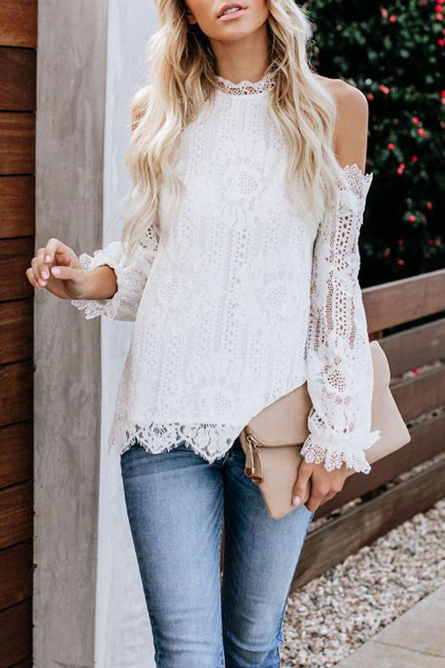 VOKJJ Off-shoulder Lace Top - Hellosuitlady