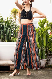 VOKJJ Nine-Point Wide Leg Simple Bohemian Pants - Hellosuitlady