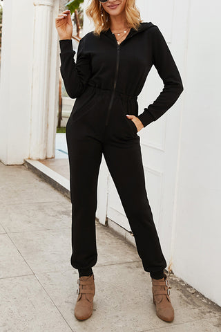 VOKJJ Long Sleeve Loose Zip Jumpsuit - Hellosuitlady