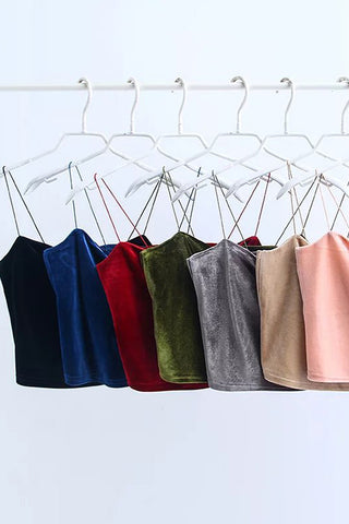 VOKJJ Velvet Solid Color Flexible Slimming Sling - Hellosuitlady