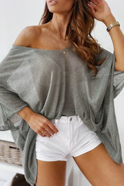 VOKJJ Summer Loose Thin Pullover, Sun-proof Top