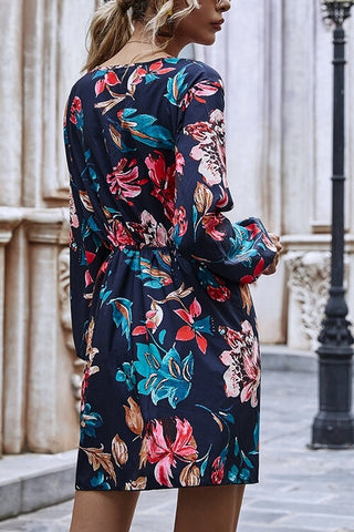 VOKJJ Original Design V Neck Long Sleeve Dress