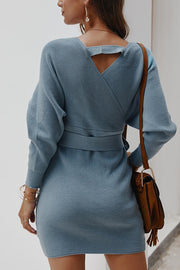 VOKJJ Sexy Warm Winter Sweater Dress
