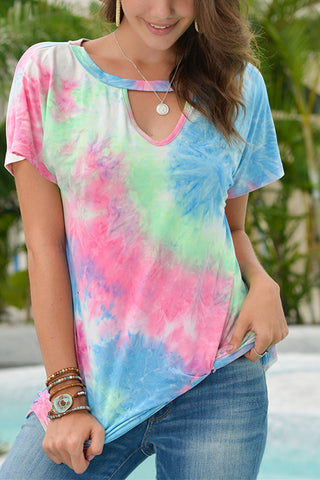 tie-dyed top T shirt bottom