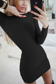 VOKJJ High Neck Long Sleeve Dress - Hellosuitlady