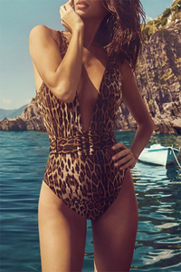 Sexy Leopard Belt Swimsuit