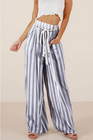VOKJJ Hight Waist Striped Pants - Hellosuitlady