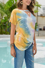 VOKJJ Tie-dyed Top T Shirt Bottom