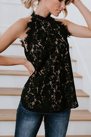 VOKJJ  Hollowed-Out Lace Shirt - Hellosuitlady