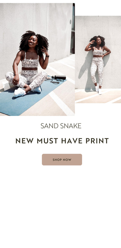 Sand Snake Print Activewear - Must Have