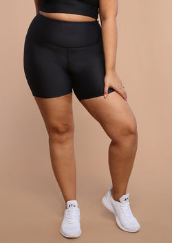 NO. 0114 HIGH-RISE BIKE SHORT- BLACK