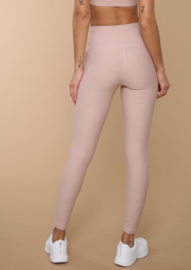 High-waist V-front Legging in Desert Rose from Blank Label Active