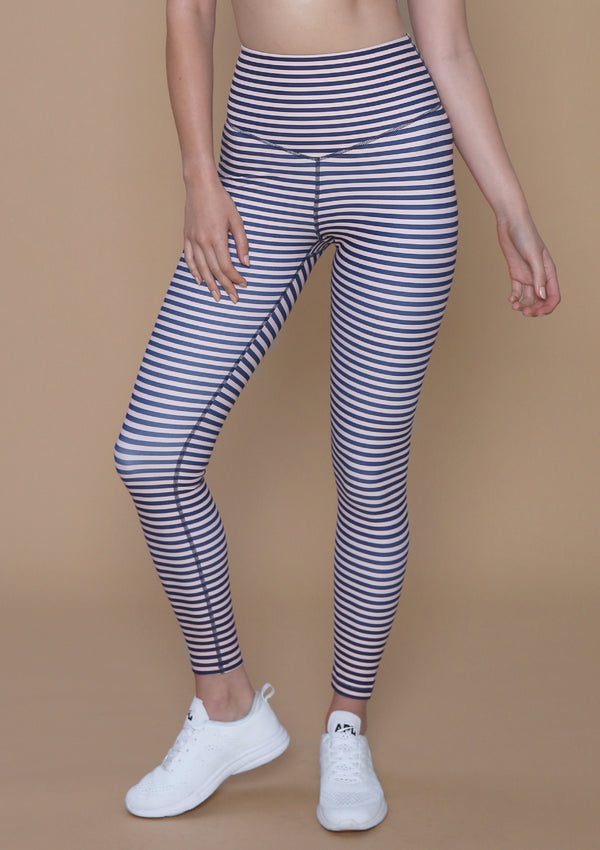 NO. 0111 SUPER HIGH-RISE V-FRONT LEGGING- STRIPE