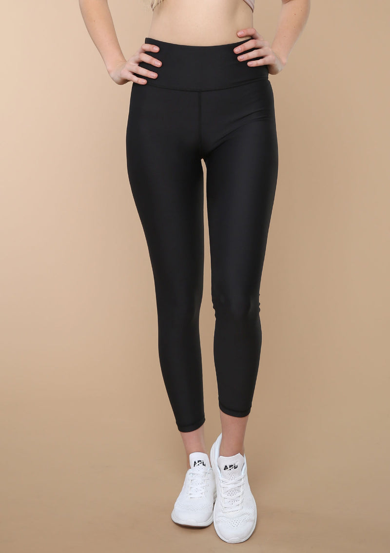 NO. 0112 HIGH-RISE ESSENTIAL LEGGING- BLACK
