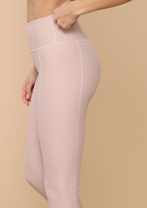 NO. 0113 HIGH-RISE SEAMED LEGGING- DESERT ROSE
