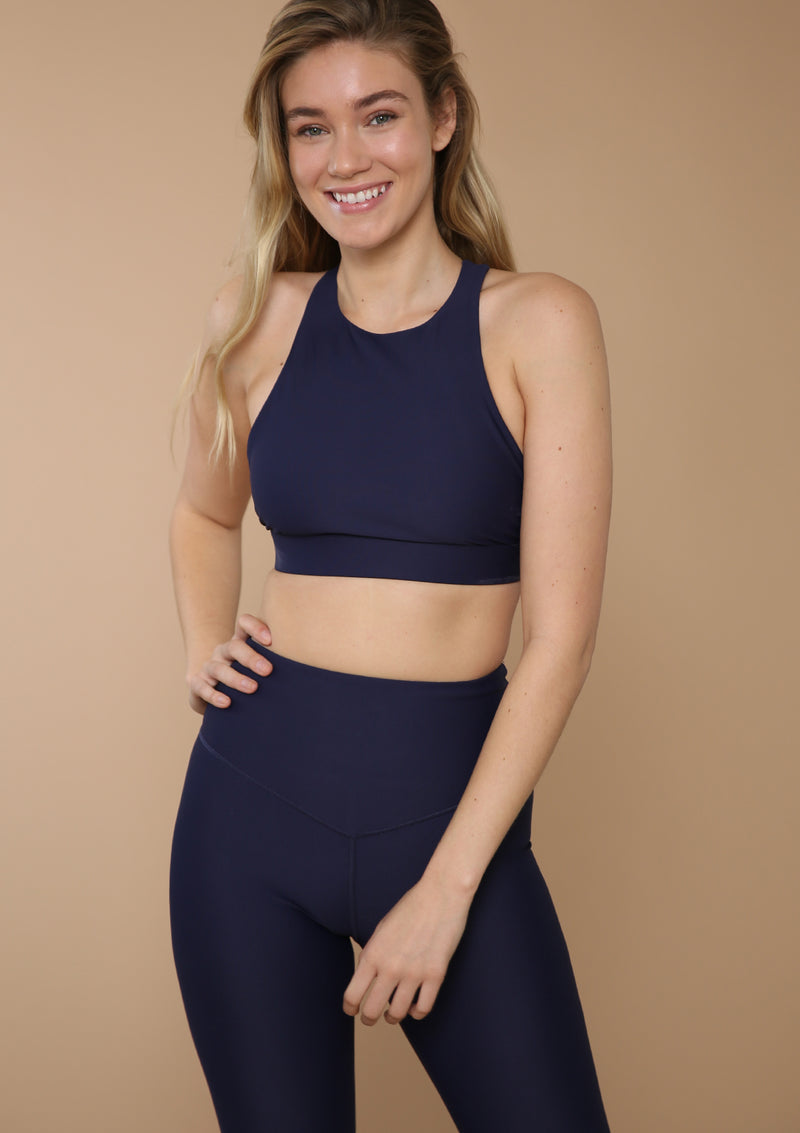 Blank Label Active Sports Bra with Strap Back Detail. Shop Bundles and Save!