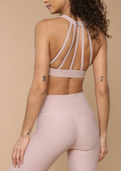 Strap Back Bra in Desert Rose By Blank Label Active